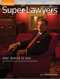 cover of 2019 Virginia Super Lawyers magazine featuring Zachary Kitts